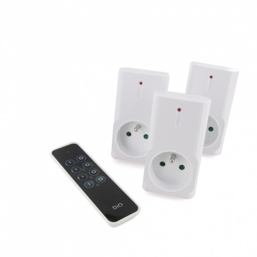 Kit 3 DIO First (1500 W) remote-controlled sockets