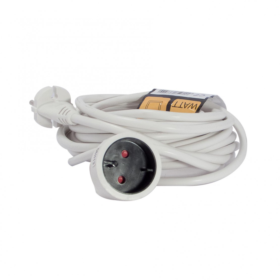 Extension lead without earth, white 7.5 m (SCH) on