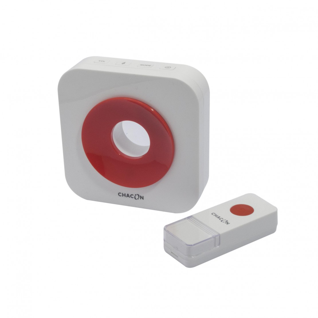 Designer red wireless doorbell
