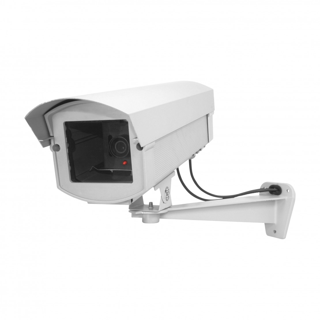Caméra factice en aluminium avec LED