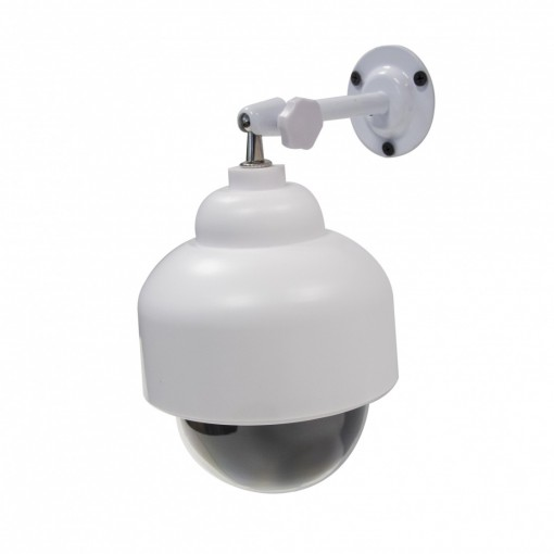 Outdoor dummy dome camera with blue LED