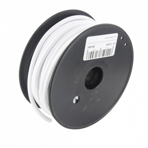 20 m white fabric cable reel