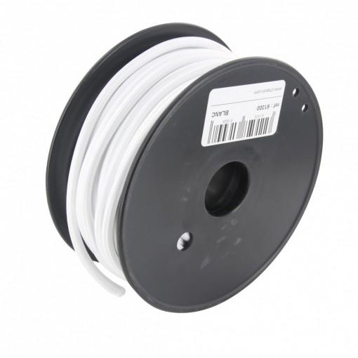 Bobina cable textil blanco 20 m
