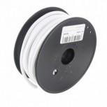 Bobine câble textile blanc 20m