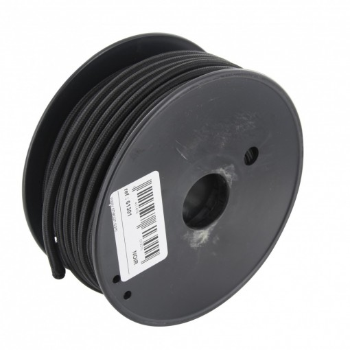 20 m black fabric cable reel