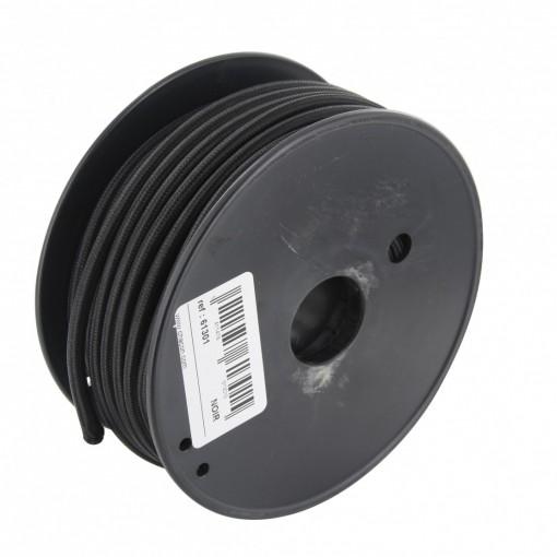 Bobina cable textil negro 20 m