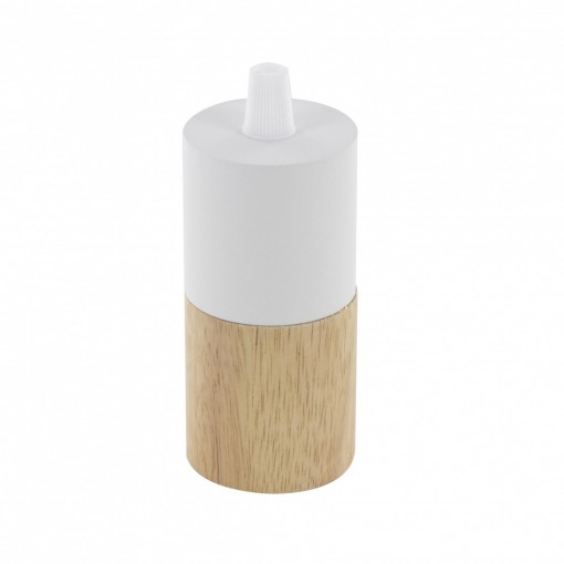 E27 wood and metal lamp holder