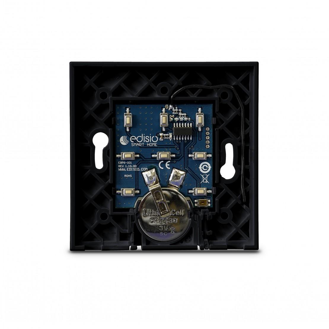 Basisplaat voor Edisio-schakelaar (1 tot 5 kanalen), zwart