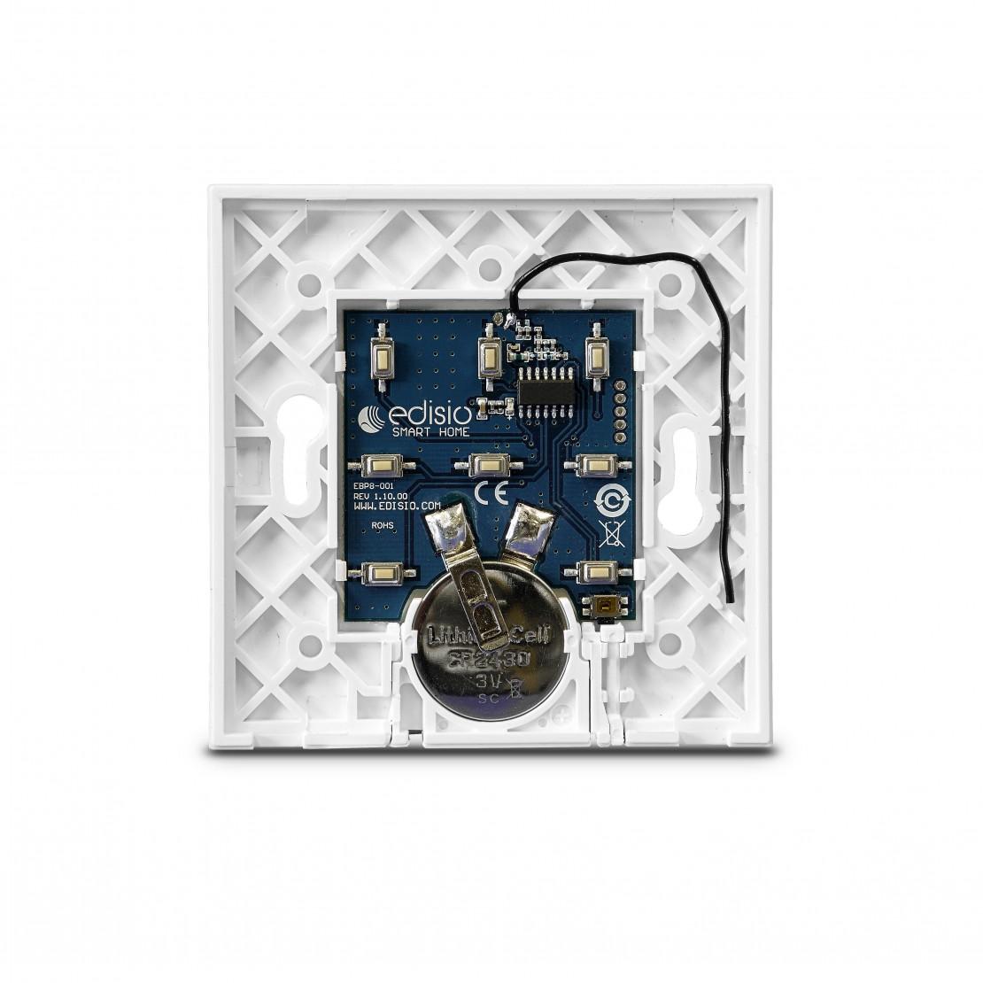 Basisplaat voor Edisio-schakelaar (1 tot 5 kanalen), wit