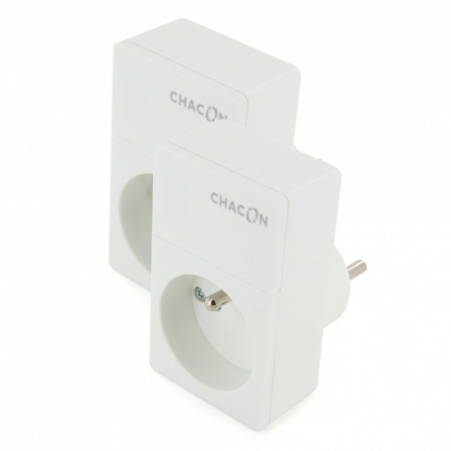 Wi-Fi CHACON duo socket kit, 2 Chacon Wi-Fi sockets