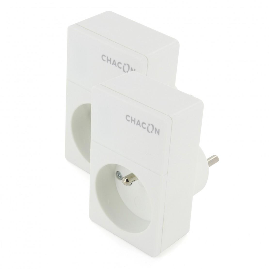 Kit Duo Prises Wi-Fi CHACON2 Prises Wifi Chacon