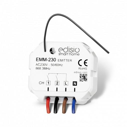 Micromódulo emissor de 2 canais de 230V