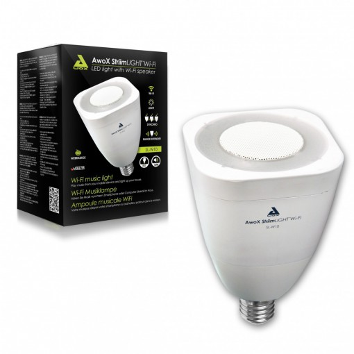 StriimLIGHT - connected E27 white bulb with Wi-Fi speaker