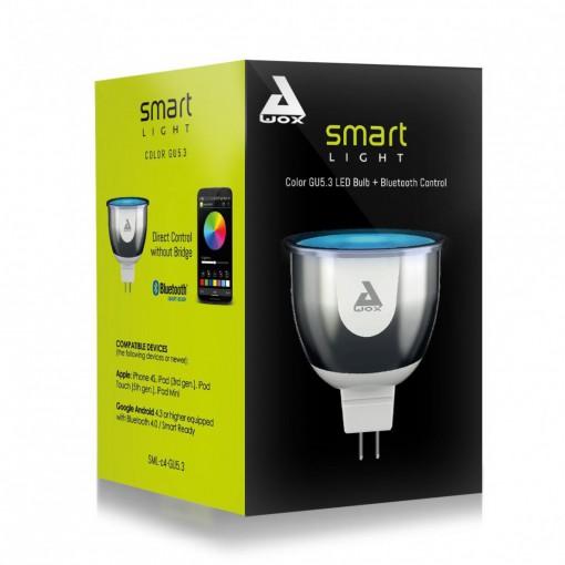 SmartLIGHT - lâmpada GU5.3 de cor, ligação à internet por Buetooth