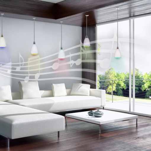 StriimLIGHT - bombilla E27 color conectada con altavoz wifi