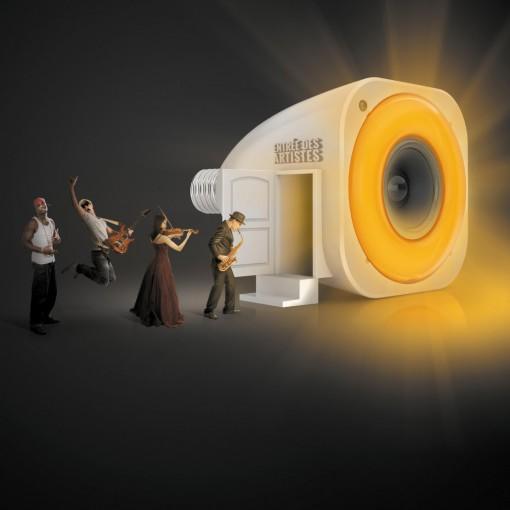 StriimLIGHT - smartlamp, E27, kleur, met speaker, wifi