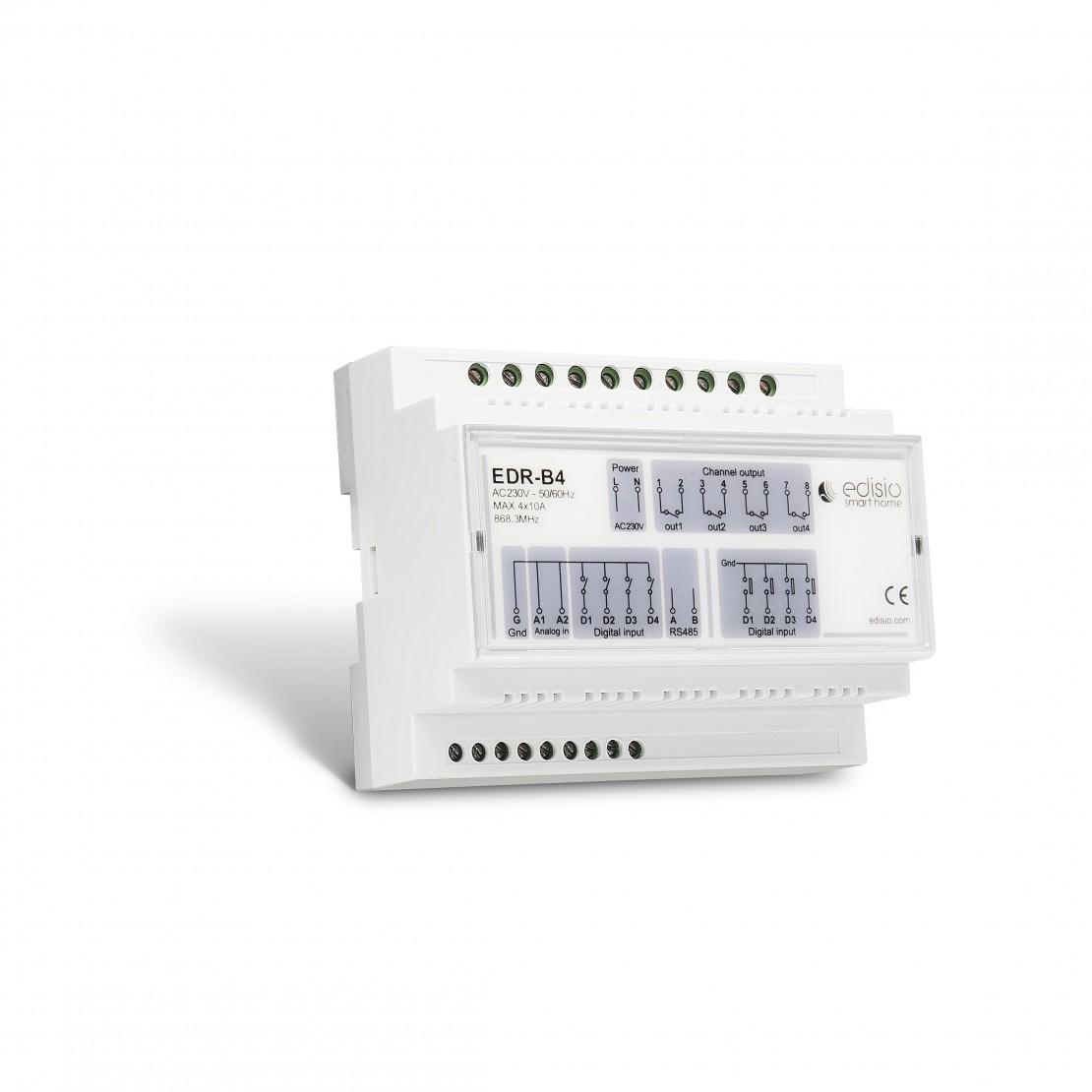 Carril DIN 4x1000 W - On/Off - multifunción