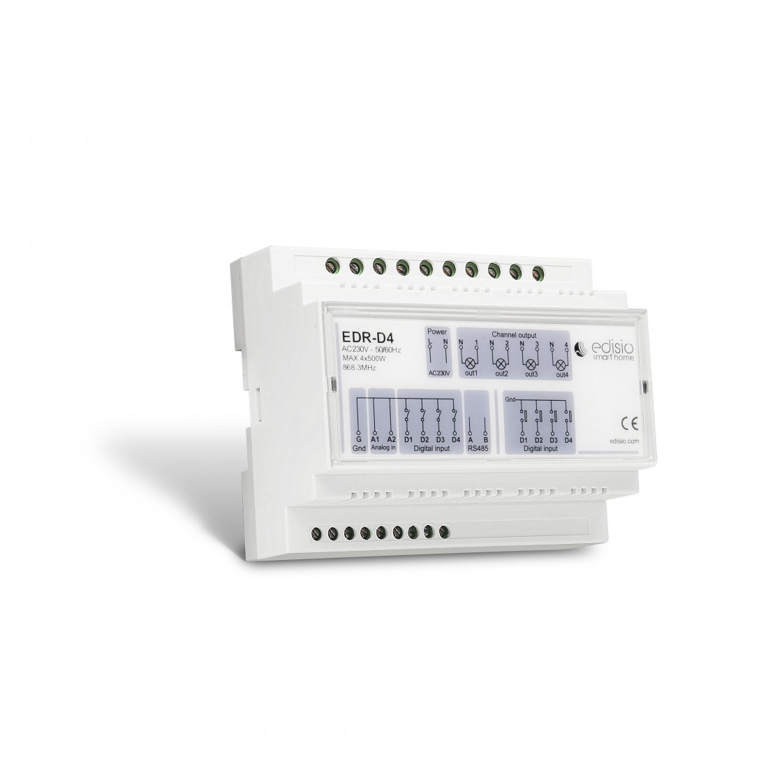 Carril DIN 4x1000 W - Marcha/Paro/Regulación