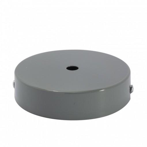 Plafondkapje, metaal, grijs