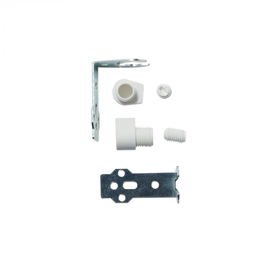 Esquadro branco para casquilho E14 (2 pçs.)