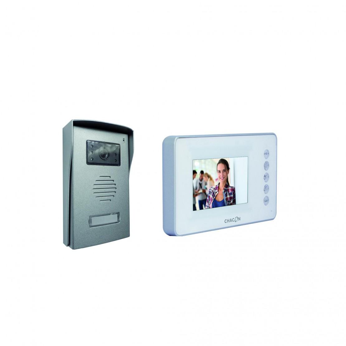 Videofoon met 4-draadsaansluiting, 3,5 inch, wit