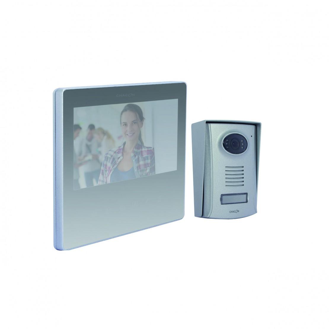 Videofoon met 2-draadsaansluiting, 7 inch, spiegelfunctie, Ultra Slim