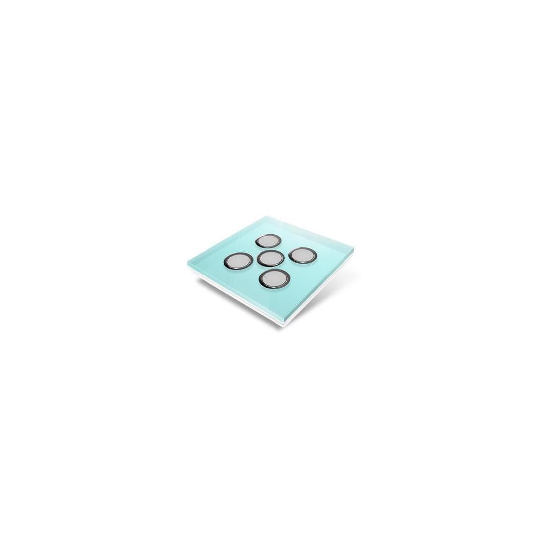 Afdekplaat voor Edisio-schakelaar - glas, lichtblauw