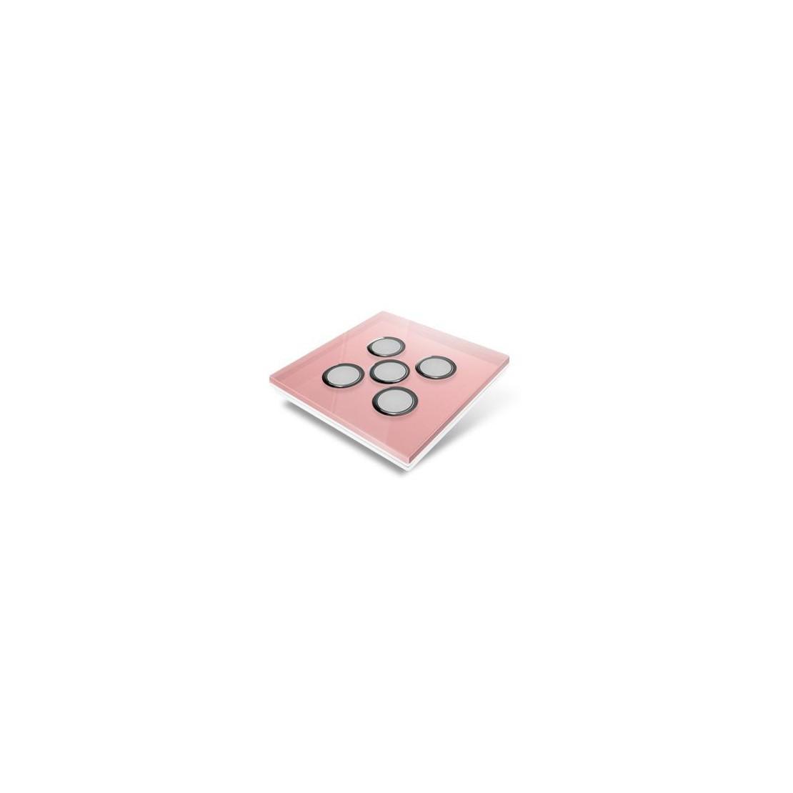 Afdekplaat voor Edisio-schakelaar - glas, roze