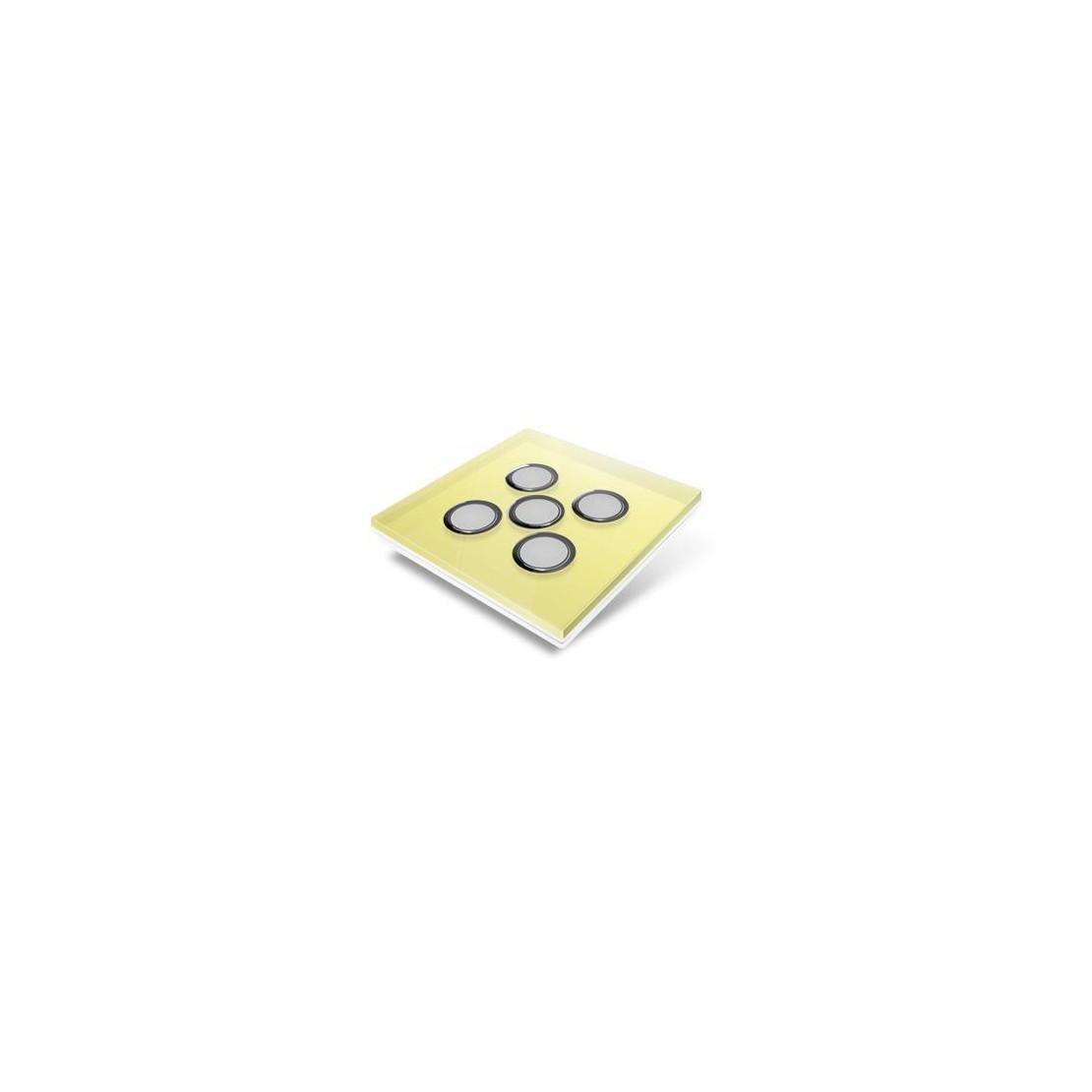 Afdekplaat voor Edisio-schakelaar - glas, geel