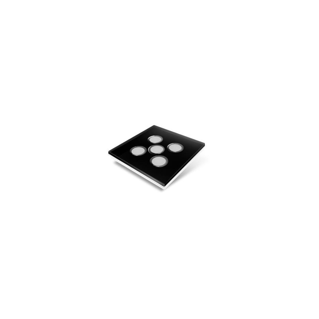 Cubierta para interruptor Edisio - plástico negro