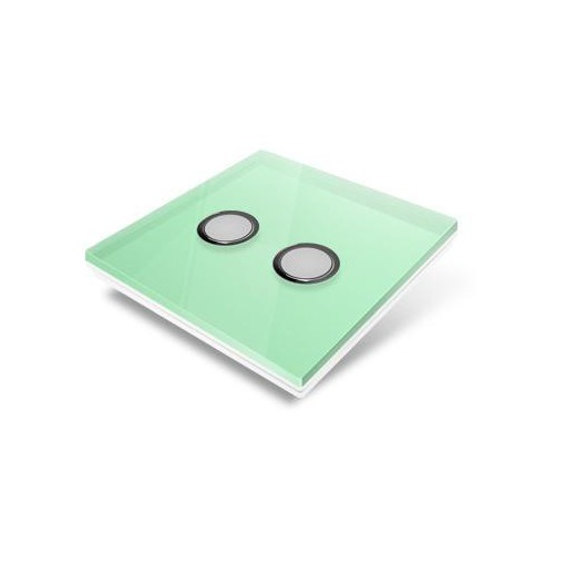 Cubierta para interruptor Edisio - crystal verde