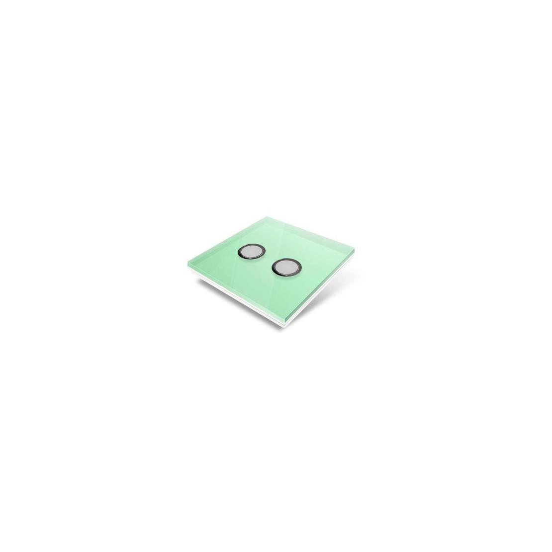 Tampa de cobertura para interruptor Edisio - cristal verde