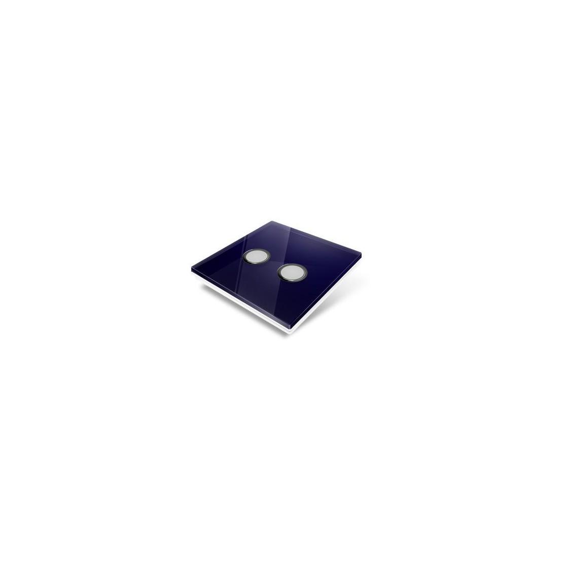 Plaque de recouvrement pour interrupteur Edisio - crystal Bleu Nuit