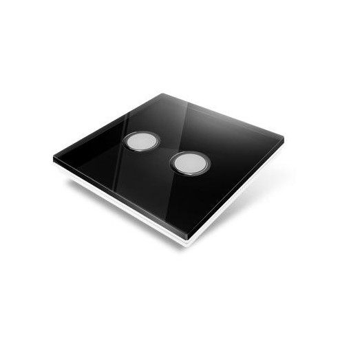 Switchplate for Edisio - black crystal