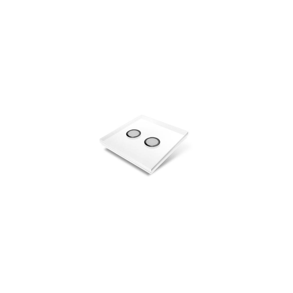 Afdekplaat voor Edisio-schakelaar - glas, wit