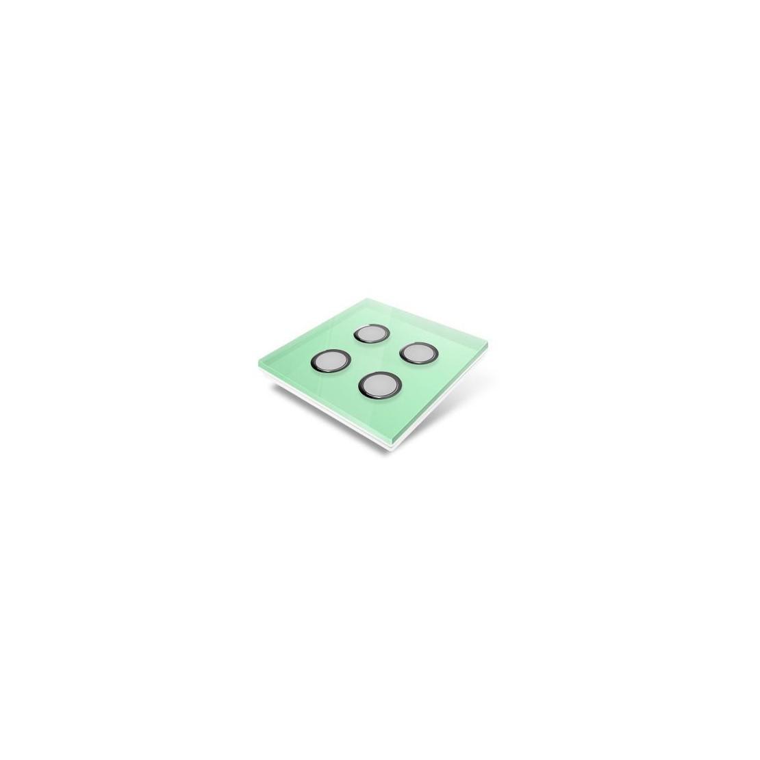 Plaque de recouvrement pour interrupteur Edisio - crystal Vert