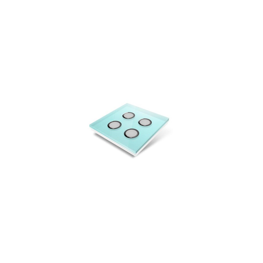Switchplate for Edisio - light blue crystal