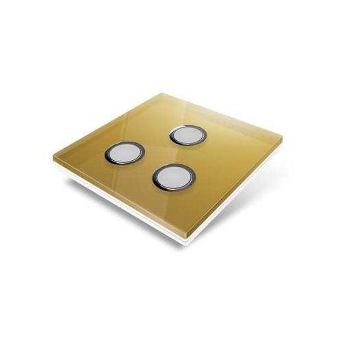 Plaque de recouvrement pour interrupteur Edisio - crystal Or