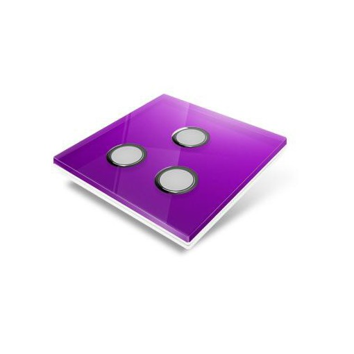 Switchplate for Edisio - mauve crystal