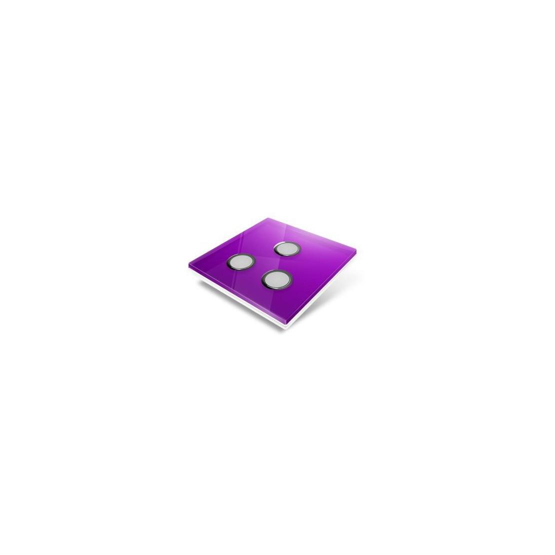 Cubierta para interruptor Edisio - crystal malva