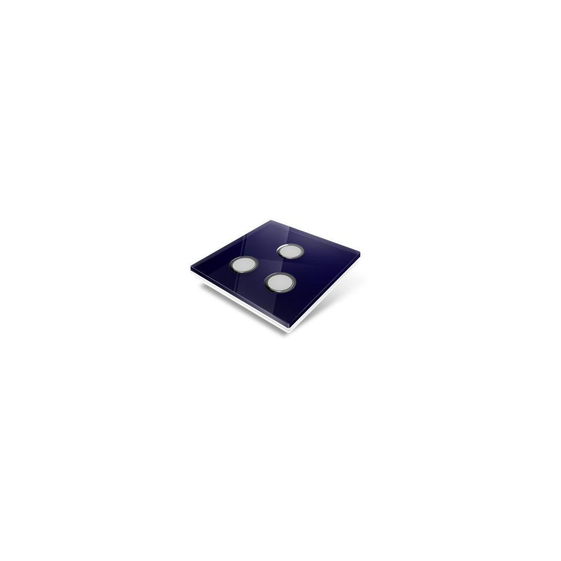 Afdekplaat voor Edisio-schakelaar - glas, nachtblauw