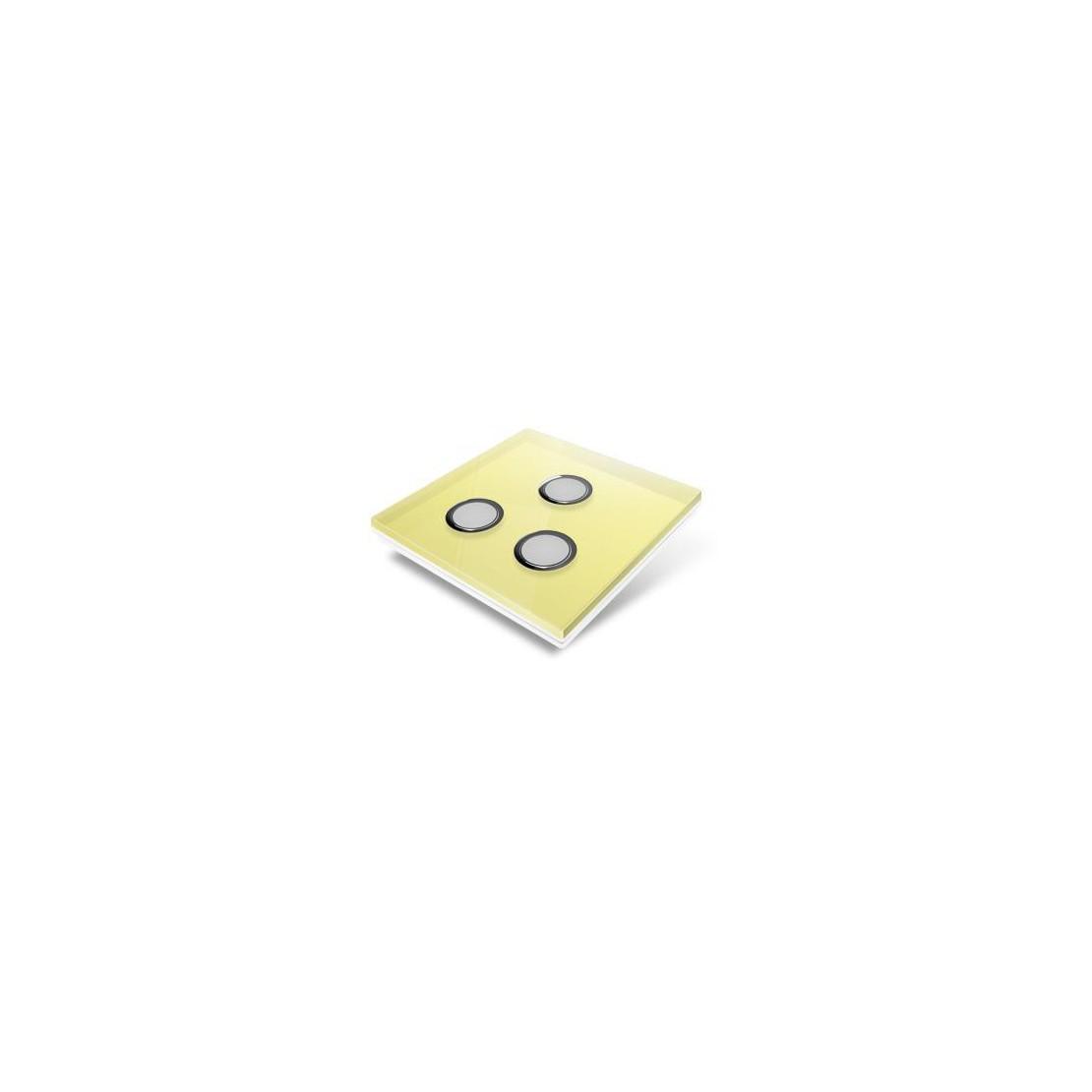 Tampa de cobertura para interruptor Edisio - cristal amarelo