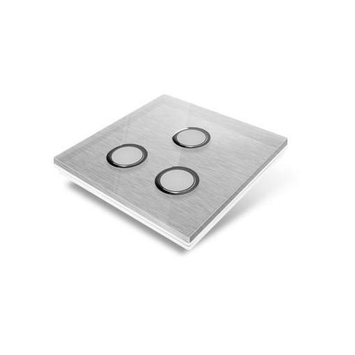 Afdekplaat voor Edisio-schakelaar - glas, grijs