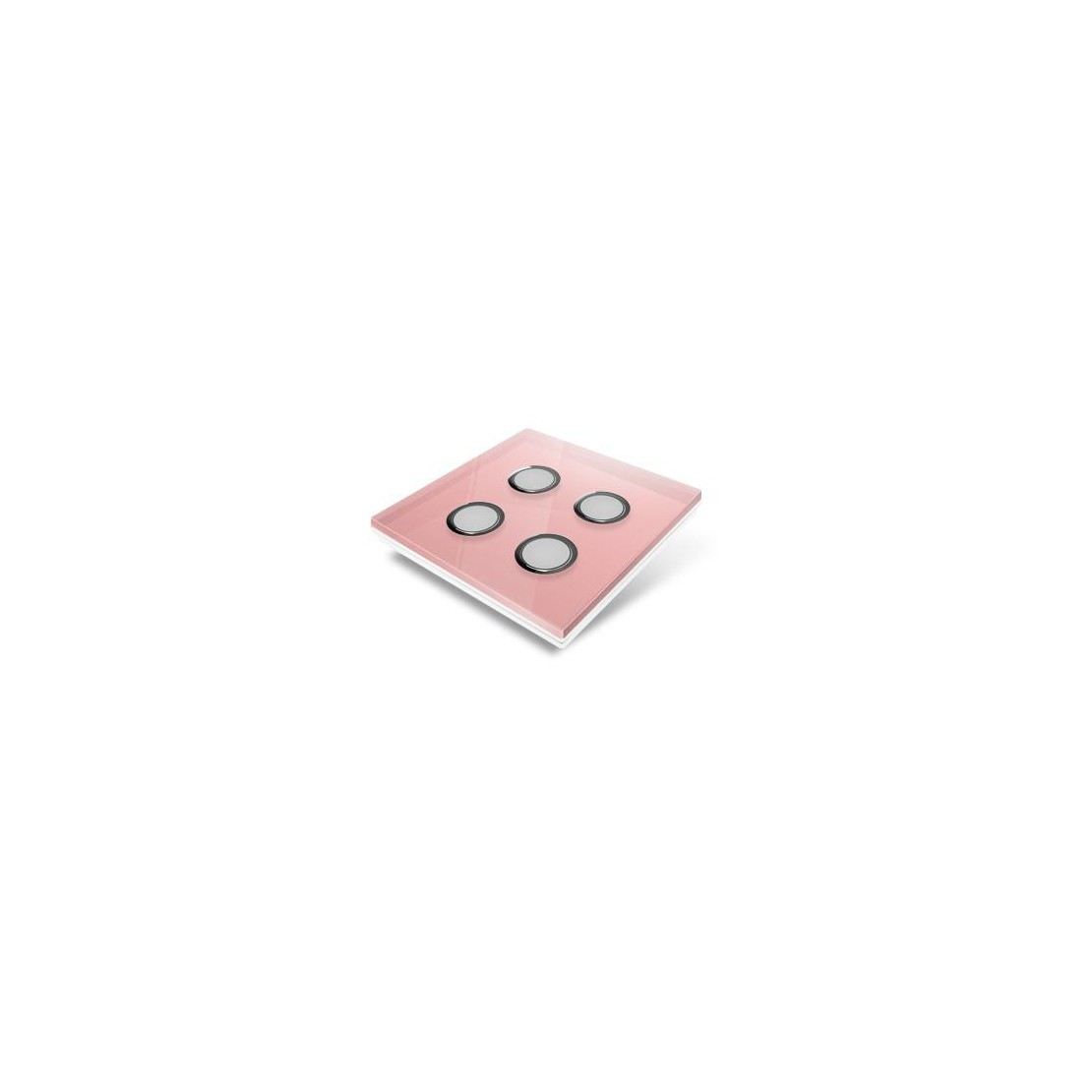 Switchplate for Edisio - pink crystal