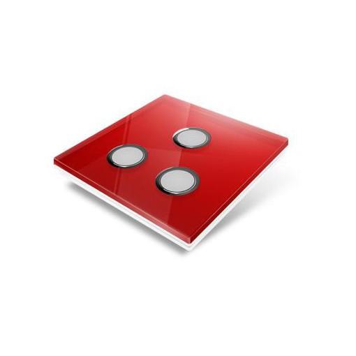 Cubierta para interruptor Edisio - crystal rojo