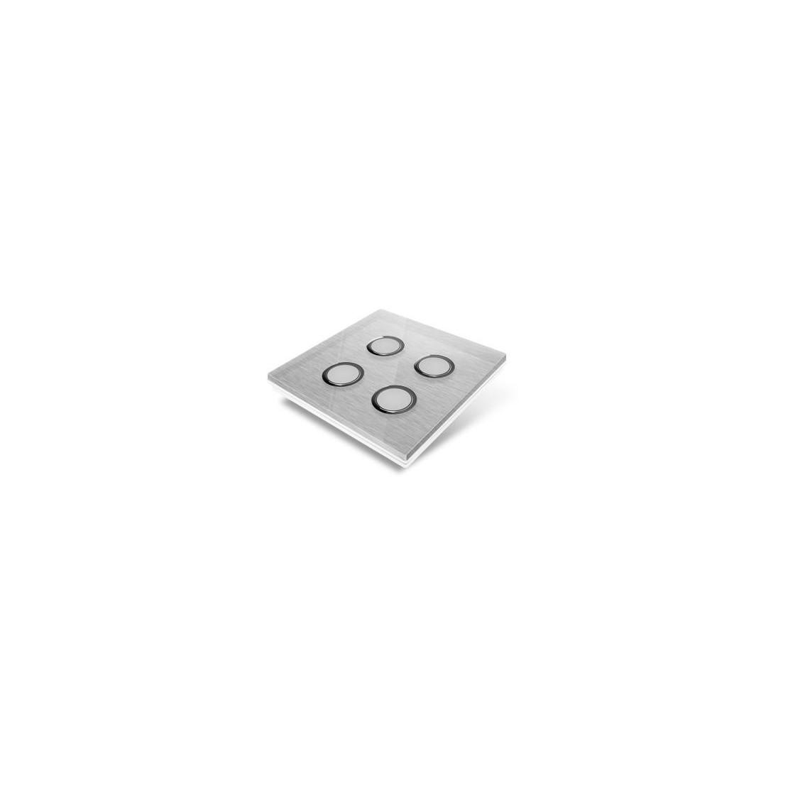Tampa de cobertura para interruptor Edisio - cristal cinzento