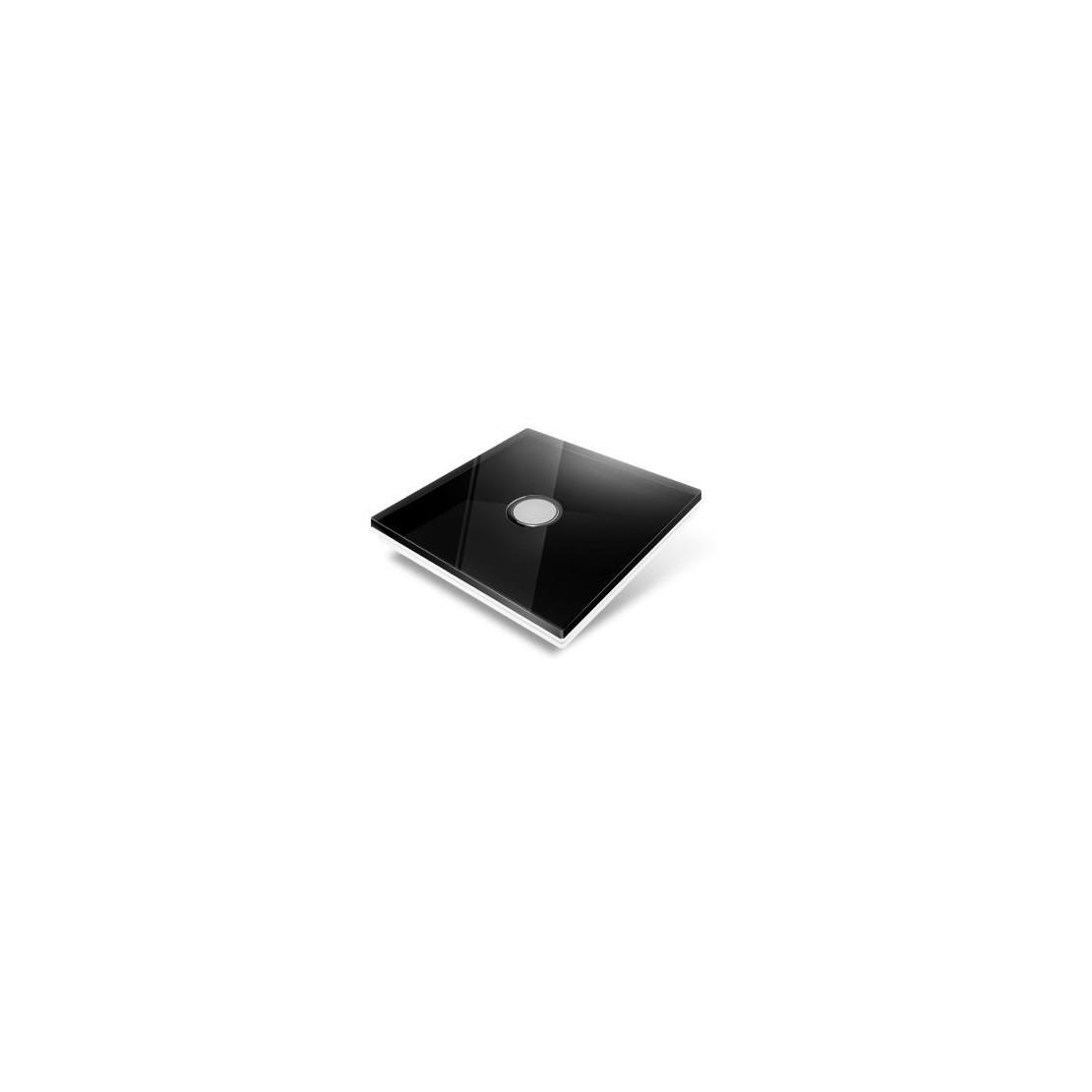Afdekplaat voor Edisio-schakelaar - glas, zwart