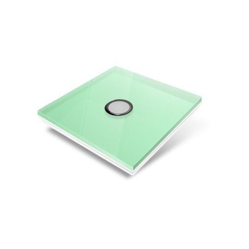 Switchplate for Edisio - green crystal