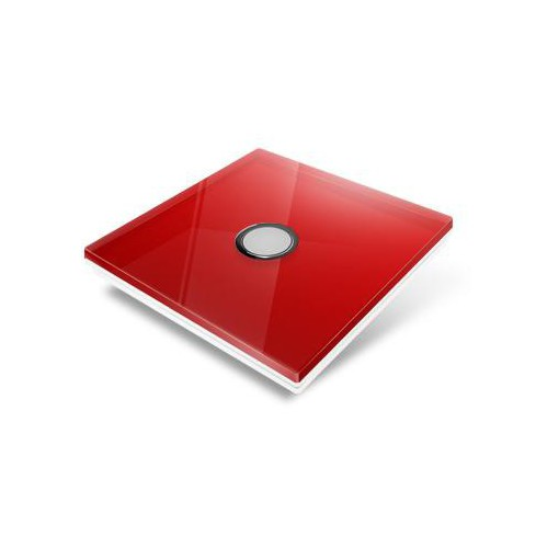Switchplate for Edisio - red crystal