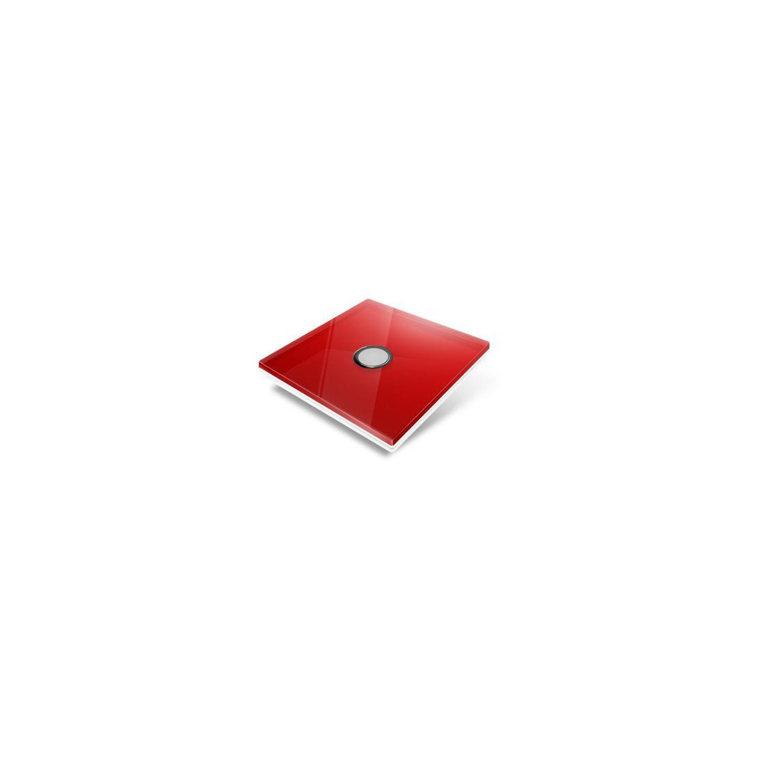 Tampa de cobertura para interruptor Edisio - cristal vermelho